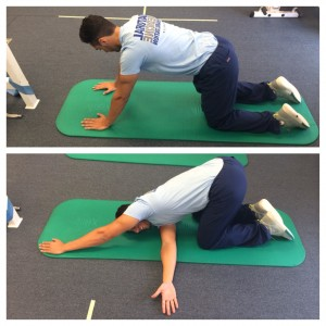 thoracic spine yoga stretch for back pain relief